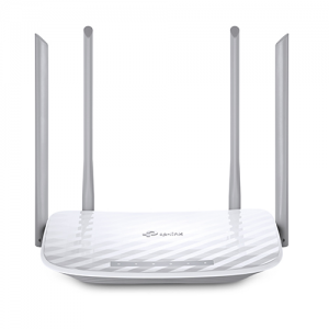 Four external antennas provide stable wireless connections and optimal coverage. Upgrades networks to powerful 802.11 ac Wi-Fi technology to experience smoother HD streaming and online gaming. High-performance AC1200 Wi-Fi, delivering up to 1200 Mbps of Wi-Fi speed over dual 5 GHz (867 Mbps) and 2.4 GHz (300 Mbps) bands, 4 10/100 Mbps LAN ports and 1 10/100 Mbps WAN port. Guest Wi-Fi will allow guests to join your Wi-Fi network, while protecting your privacy make sharing easy, maintain security. 1 Year Warranty