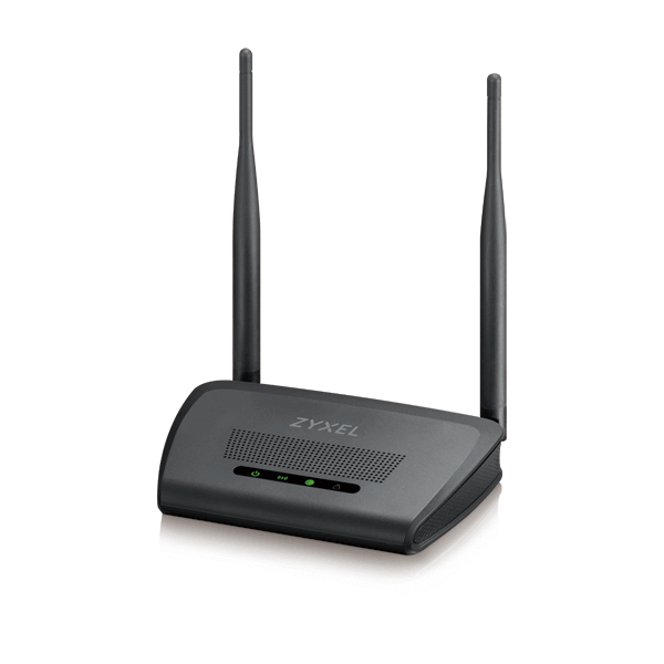 ZyXEL 300 Mbps Wireless Router with High Gain Antennas (NBG418n)